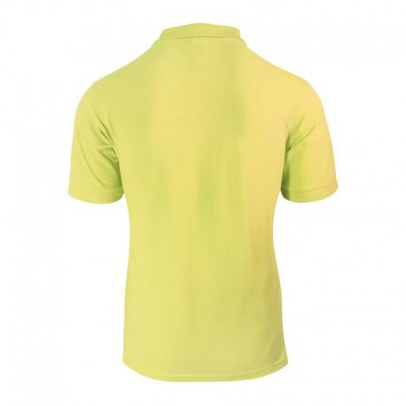 Polo homme jaune à manches élastiques