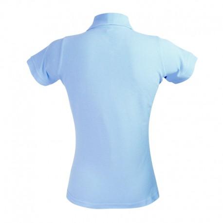Polo style féminin à manche courtes bleu ciel