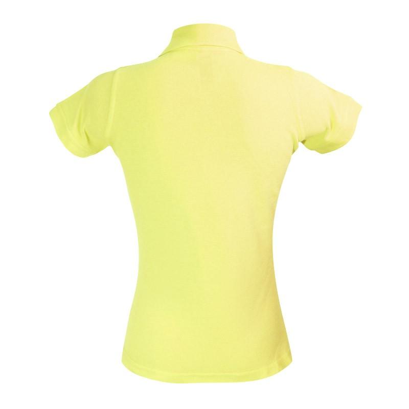Polo femme vert lime vue arrière