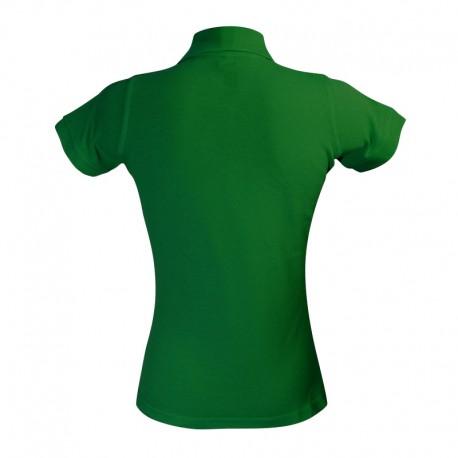 Polo coupe féminine de couleur vert foncé