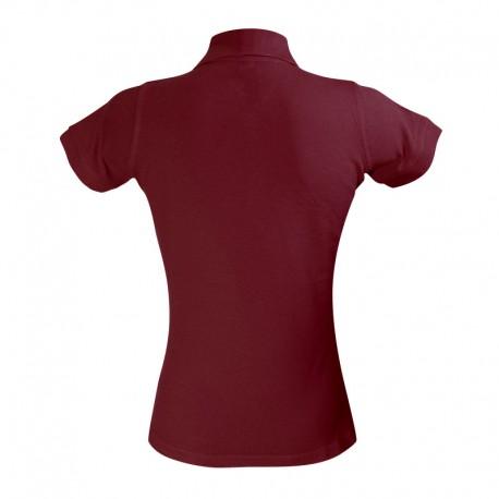 Polo femme couleur bordeaux à manches courtes