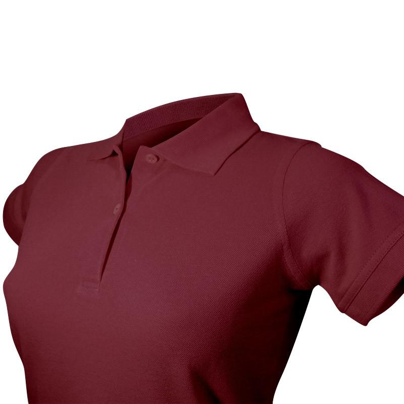 Polo féminin détail col et boutons