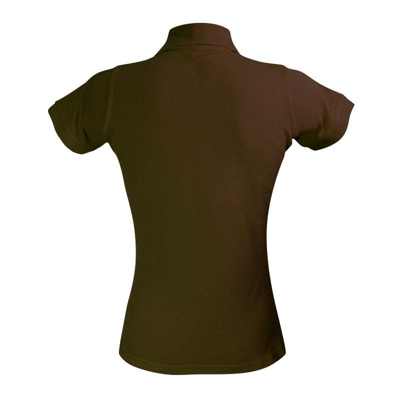 Polo marron à manches courtes vue de dos