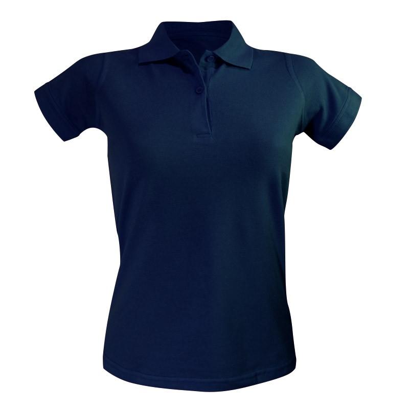 Polo femme bleu marine coupe droite