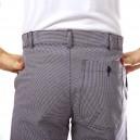 Pantalon de boulanger pied de poule et pas cher en coton