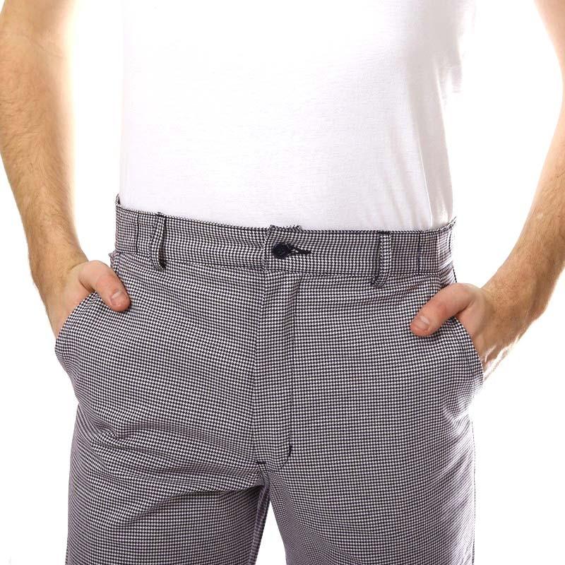 Pantalon De Cuisine Pied De Poule Ceinture élastiquée