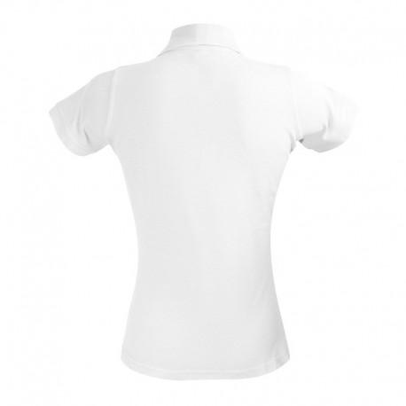 Polo femme style serveuse de couleur blanche