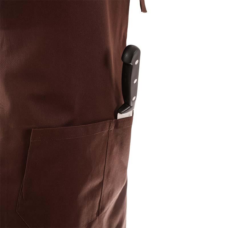 tablier a bavette ajustable avec 2 poches centrales