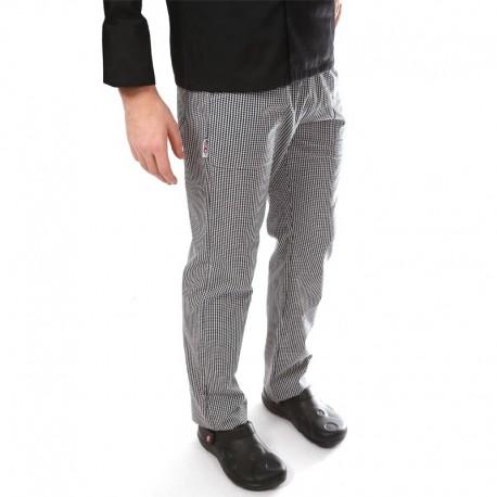 Pantalon de pâtissier Carreaux Noirs