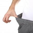 Pantalon de pâtissier Carreaux Noirs Ceinture élastique