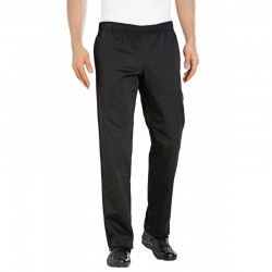 Pantalon de pâtissier Noir Bragard Coupe élégante