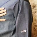 Veste de cuisine Ottavio  ML en Jeans, Manches Courtes Poche Stylo