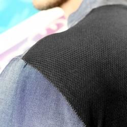 Veste de cuisine Ottavio en Jeans, Manches Longues avec Dos Respirant Hautes Températures pour l'été