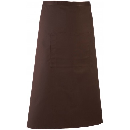 Tablier de serveur long marron