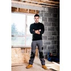 Pantalon de sécurité Portwest gris noir mannequin