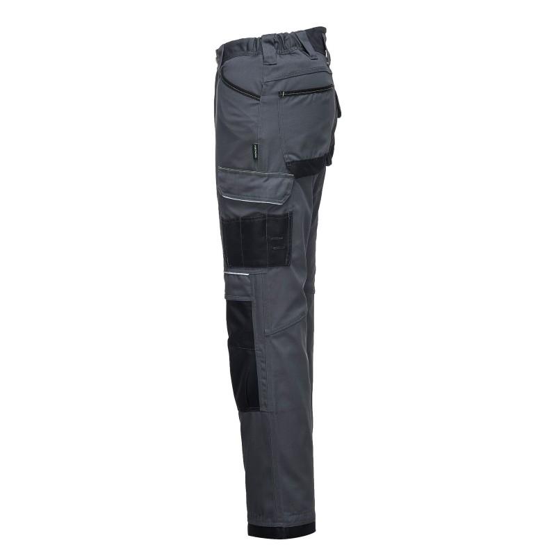 Pantalon de sécurité Portwest gris noir poche côté