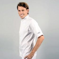 Veste de cuisine grande taille blanche poche à stylo