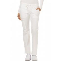 Pantalon médicale Dickies taille basse de couleur blanche
