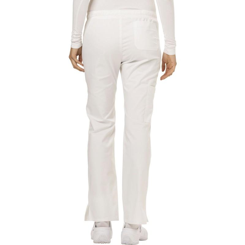 Pantalon médicale de couleur blanche vue de dos