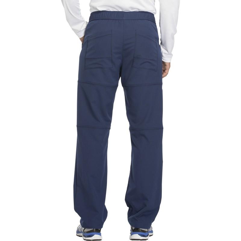 Pantalon bleu marine médical pour homme vue de dos