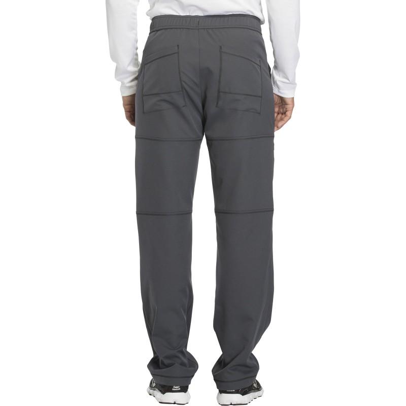 Pantalon de couleur gris médical pour homme vue de dos