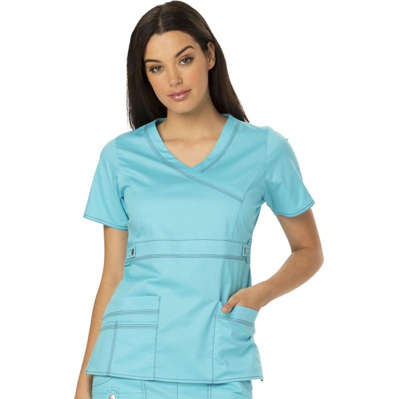 Blouse bleu ciel médical femme Dickies