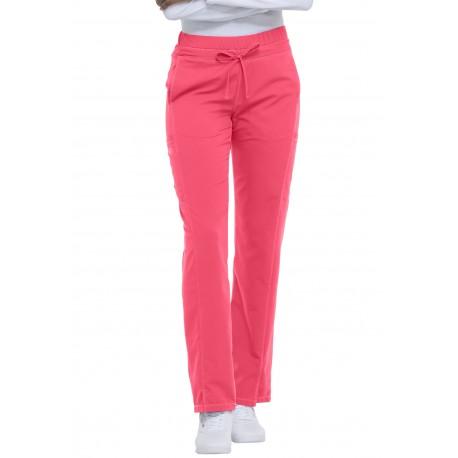 Pantalon médicale Rose droit à taille haute avec cordon de serrage Dickies