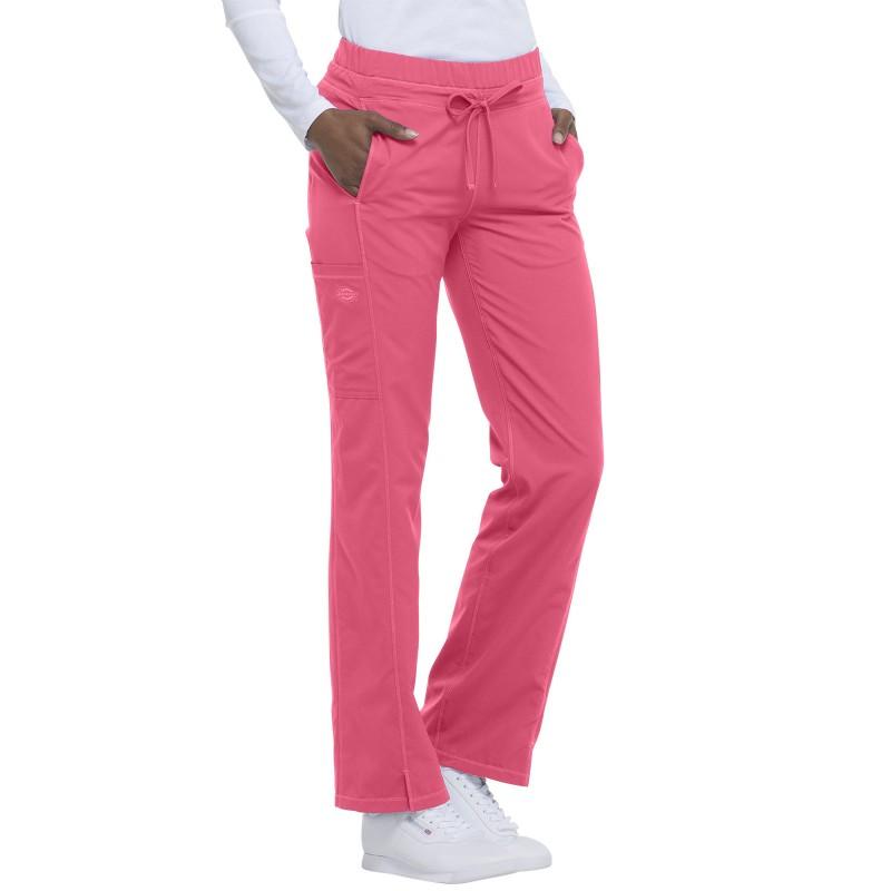 Pantalon médicale Dickies Rose pour femme détail des poches latérales