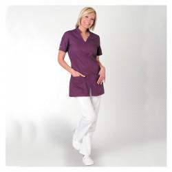 Tenue tunique et pantalon Clemix by Lafont blanc et violet