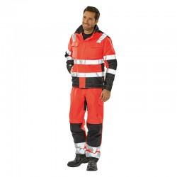 Blouson de travail homme ou femme orange fluo tenue complète