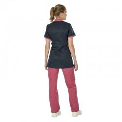 Blouse médicale cintrée et son pantalon rose cassis Lafont