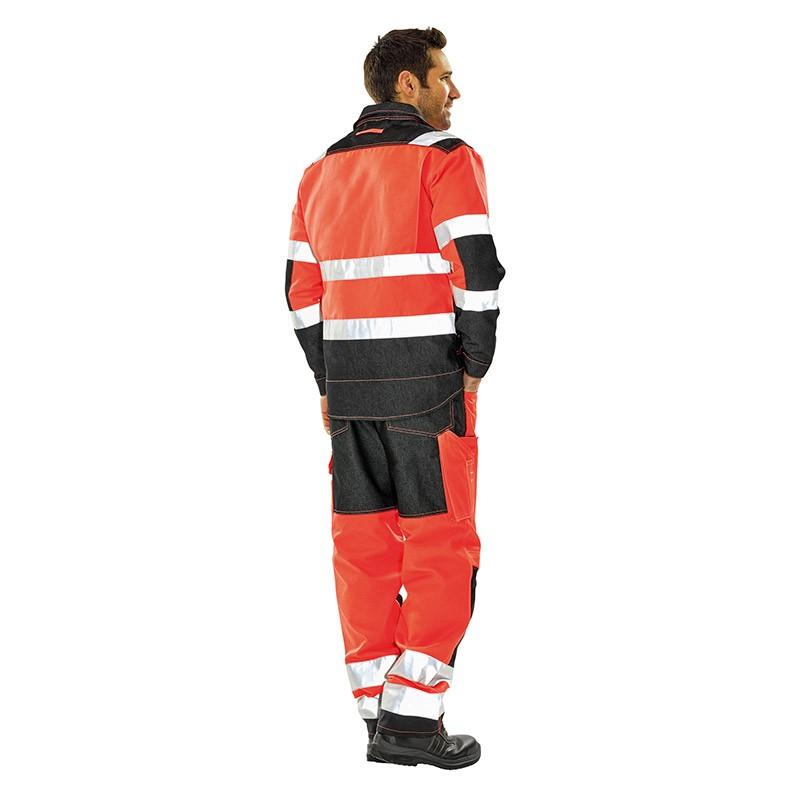 Tenue complète haute visibilité Orange Hivi Lafont pantalon et blouson de travail