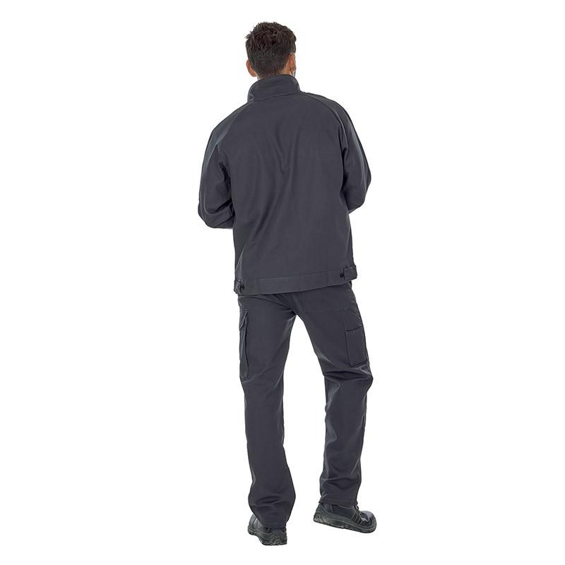 Blouson et pantalon de travail gris coton Lafont