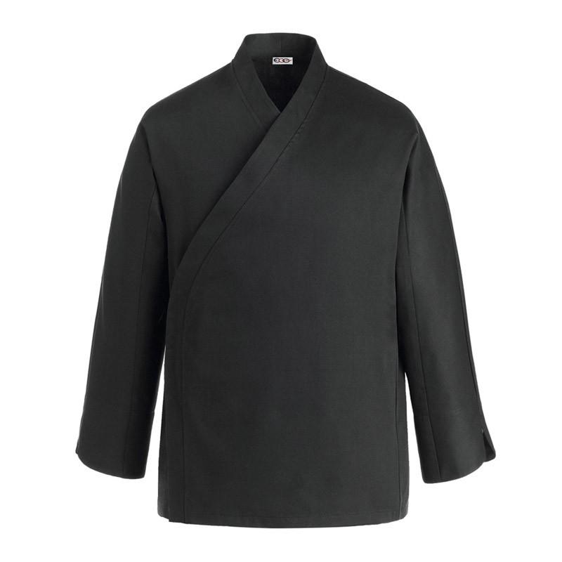 Veste de Cuisine kimono, veste de cuisinier originale, noire, manches longues
