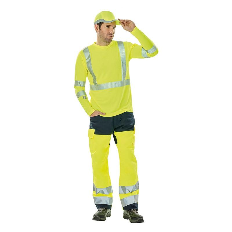 Tenue de travail complète jaune fluo Hivi homme Lafont