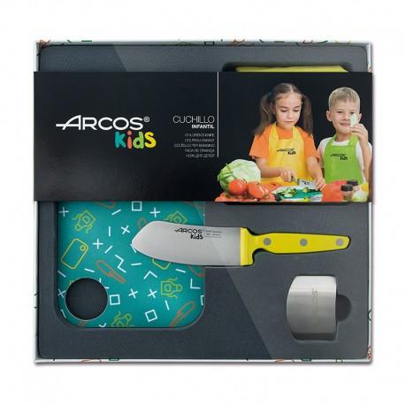 Coffret de cuisine couteau jaune pour enfants Arcos Kids