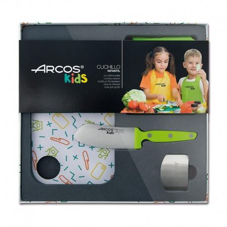 Coffret de cuisine couteau vert pour enfants Arcos Kids