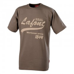Tee shirt de travail marron Nikan Lafont