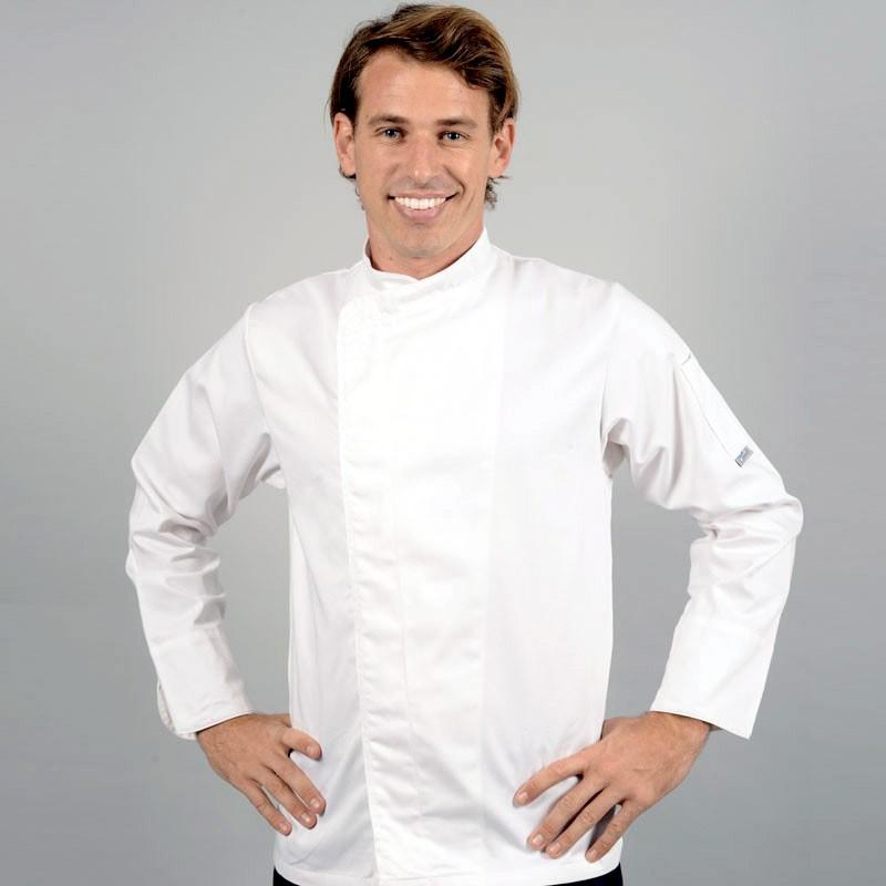 Veste de cuisine grande taille blanche manches longues