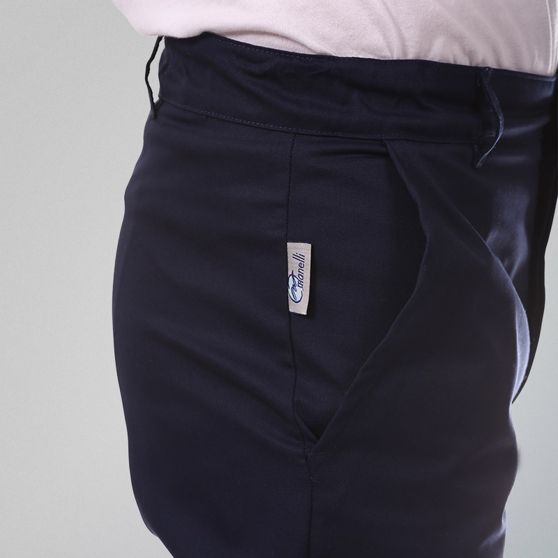 Pantalon de Cuisine Bleu 1 pli