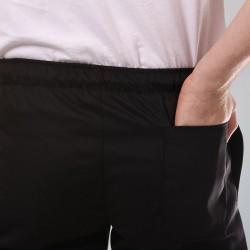 Pantalon de Cuisine Noir Grande Taille mixte homme et femme poche arrière
