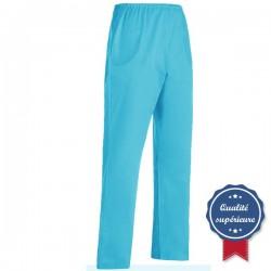 Pantalon médical turquoise Manelli homme femme mixte pas cher promo hopital