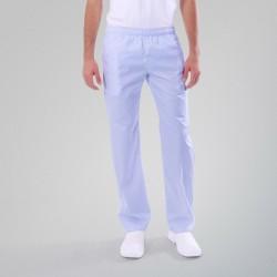 Pantalon médical bleu ciel Manelli homme femme mixte pas cher promo hôpital