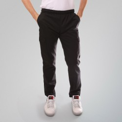 Pantalon de cuisine noir poches latérales