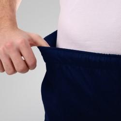 Pantalon de cuisine bleu marine poches latérales