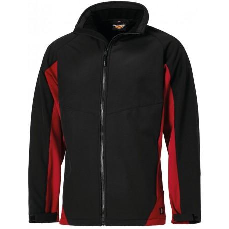 Veste de Travail Softshell Maywood Bicolore DICKIES Noir et Rouge
