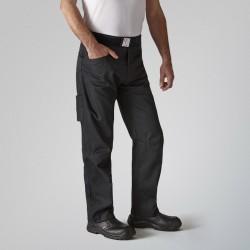 Pantalon de boucher Noir Arenal Robur