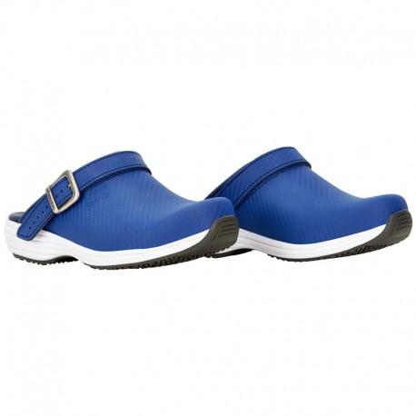 Sabots Médicaux Femme Carbon Bleu Sanita profil chaussure médicale