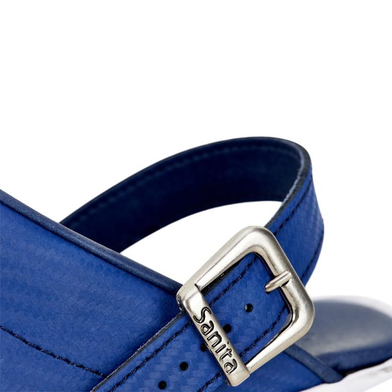 Sabots Médicaux Femme Carbon Bleu Sanita détail boucle chaussures