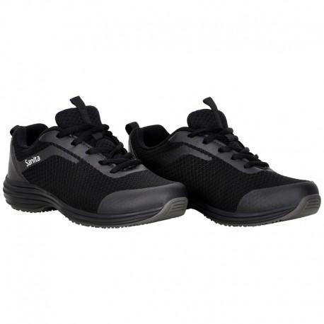 Baskets de sécurité Rider Noir Femme Sanita chaussures de sécurité pour le médical paire